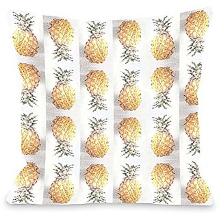 Bentin Home Decor Pineapple Pattern Throw Pillow w/Zipper by OBC, 16