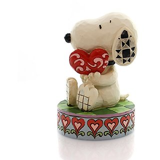 Jim Shore Peanuts I Love You Snoopy Holding Heart Figurine 4049396 New Valentine