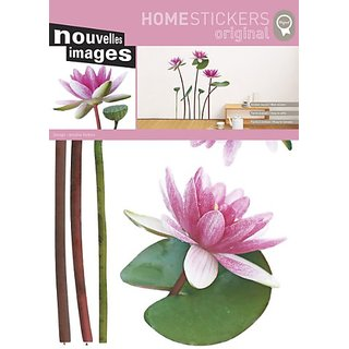 Nouvelles Images HOST1518 Lotus and White Water Lily Wall Decals