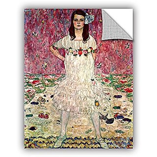 ArtWall Gustav Klimts Eugenia Primavesi Appeelz Removable Graphic Wall Art, 14 by 18
