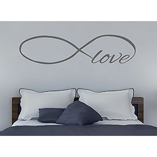 Wall Decor Plus More WDPM3334 Infinity Love Large Wall Decal Sticker for Home Decor, Storm Gray, 45 x 11.5-Inch