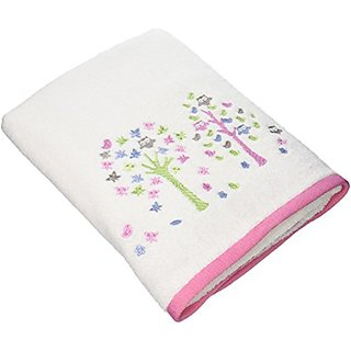 Kassatex Fine Linens Bambini Merry Meadow Embroidered Bath Towel