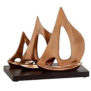 Benzara Artistically Distinctive Aluminum Wood Sailboat