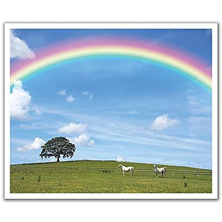 JP London Peel and Stick Removable Wall Decal Sticker Mural, Somewhere Over the Rainbow Wizard Oz, 24 by 19.75-Inch
