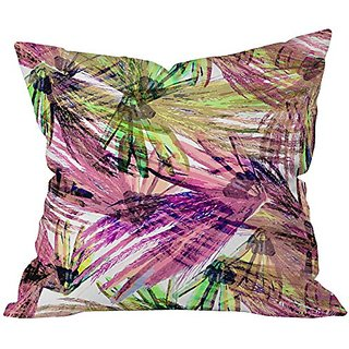 DENY Designs Bel Lefosse Design Feather Pattern Throw Pillow, 26 x 26