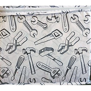 Boy Zone 3 Piece Twin Sheet Set Carpenter Construction Tools Saw Hammer Wrench Screwdriver