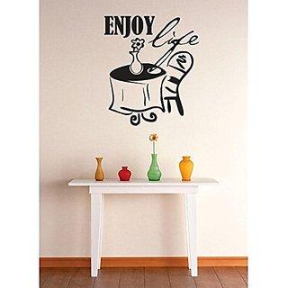 Design with Vinyl 1 Zzz 628 Decor Item Enjoy Life Quote Image Wall Decal Sticker, 12 x 18-Inch, Black