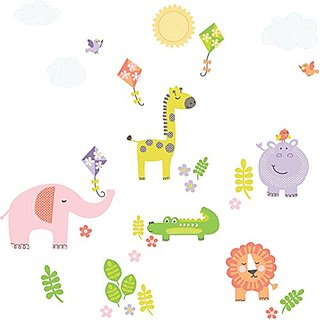 Wall Pops DWPK1153 Sunny Day Safari Applique Kit