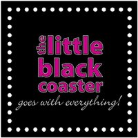 The Little Black Coaster - Set Of 4 Drink Coasters