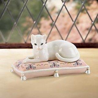 Lenox Serena the Cat Sculpture 2pcs set New in box