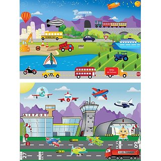 mona melisa designs Travel Peel and Play Stickers Set, Planes/Cars
