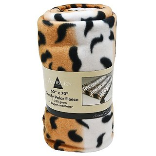 Leopard Print Comfy Polar Fleece Throw Blanket 60