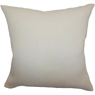 The Pillow Collection Capri Herringbone Pillow, Creme