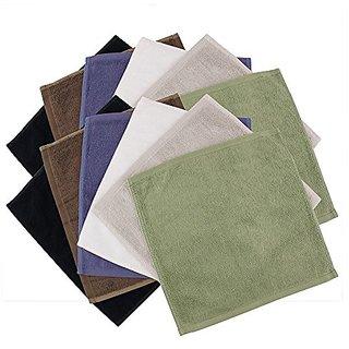 BambooMN Brand - Super Soft 70% Rayon from Bamboo 30% Organic Cotton Wash Cloth, 535 GSM - 12pc - Assortment B