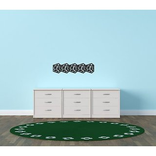 Design with Vinyl Black - Star 1162 Background Home Decor Bedroom Living Room Boarder Vinyl Wall Decal, 10-Inch x 40-Inc