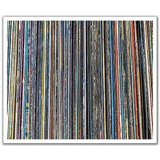JP London POSLT2264 uStrip Lite Removable Wallpaper Decal Sticker Mural Vinyl Record Sleeve Music Man, 24-Inch x 19.75-I