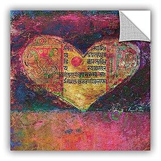 Elana Rays Tantra Heart Art Appeelz Removable Graphic Wall Art, 14 x 14