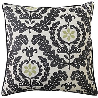 Jiti Shine Black Outdoor Throw Pillow, 20 by 20