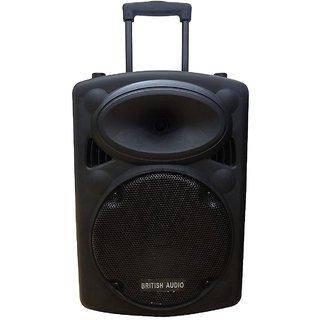 British Audio multipurpos S10 Bluetooth dj Trolley Speakers