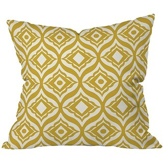 DENY Designs Heather Dutton Trevino Yellow Throw Pillow, 26 x 26