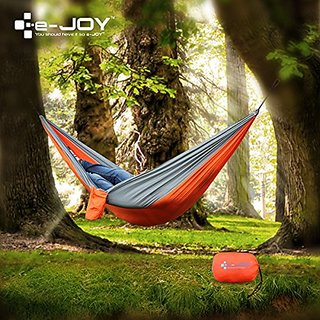 e-joy Portable Parachute Ripstop Nylon Fabric Travel Outdoor Multifunctional Hammocks for Camping, Hiking & Backyard Use