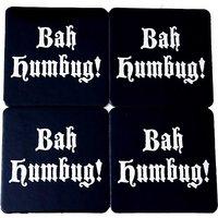 Bah Humbug Barware Christmas Scrooge Drink Coasters Set Of 4