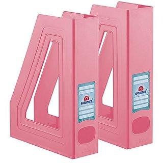 Acrimet Magazine File Holder (Solid Pink Color) (2 - Pack)