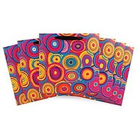 The Gift Wrap Company Gift Bags (Set Of 6), Circle Splash, Large, Multicolor