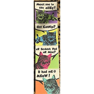 Set of 4 Cat Lover Cartoon Andy Warhol Type Absorbent Drink Coasters 4 x 4 Funny Humerous