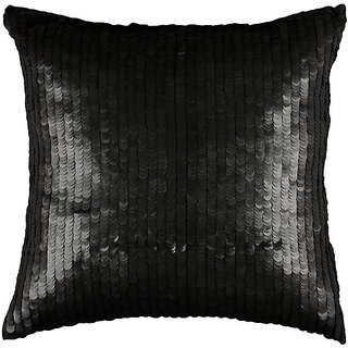 Rizzy Home T-3063A 18-Inch by 18-Inch Decorative Pillows, Black/Black, Set of 2