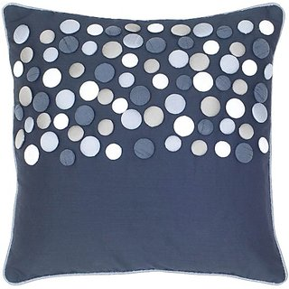 Rizzy Home T-4152 18-Inch by 18-Inch Decorative Pillows, Black/Silver, Set of 2