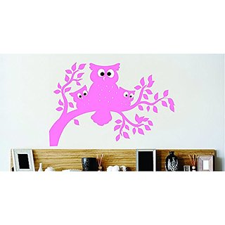Design with Vinyl Cont 180 2 Decor Item Owl Family Tree Branch Leafs Living Room Mural Wall Decal Sticker, 22 by 30-Inch