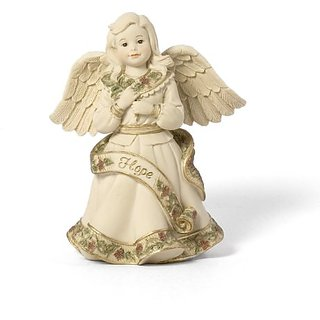 Sarahs Angels Tapestry Series Angel with Hope Banner Figurine, 4-1/2 Inch