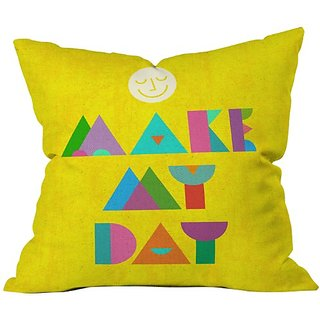 DENY Designs Nick Nelson Make My Day Throw Pillow, 20 x 20