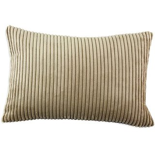 Brite Ideas Living Shaman Latte Self Backed 12-1/2 by 19 KE Synthetic Down Pillow, Brown