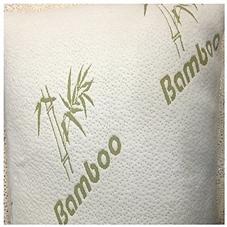 Bamboo Pillow Memory Foam - Stay Cool Removable Cover with Zipper - Hotel Quality Hypoallergenic Pillow Relieves Snoring
