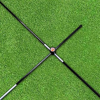 The Elixir Golf Training Alignment Sticks (2 Sticks) with (2) x Right-Angled Cross Connectors, Black