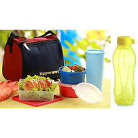 TUPPERWARE BEST LUNCH BOX WITH FREE INSULATED BAG With Tupperware 500ml Bottle