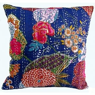 Handmade Kantha Cotton Work Cushion Cover Pillow Cover 5 Pec Set