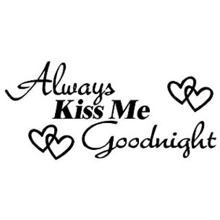 Always Kiss Me Goodnight wall quote wall decals wall decals quotes