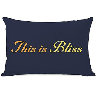 Bentin Home Decor This Is Bliss Throw Pillow w/Zipper by OBC, 14
