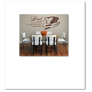Design with Vinyl Lord, Make Us Truly Grateful For The Blessings Of This Day Picture Art - Living Room Sticker - Vinyl W
