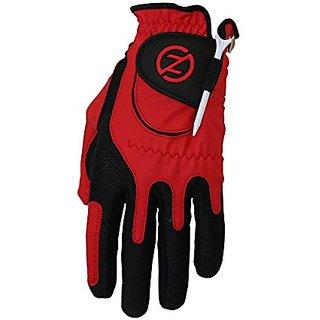 Zero Friction Junior Golf Gloves, Left Hand, One Size Golf, Red