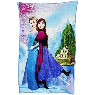 Disney Frozen Anna & Elsa Sisters Forever Blanket 39 X 66 Inches (B)