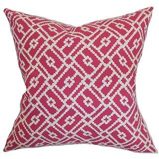 The Pillow Collection Majkin Geometric Pillow, Azalea