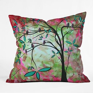 DENY Designs Madart Through the Looking Glass Throw Pillow, 18-Inch by 18-Inch