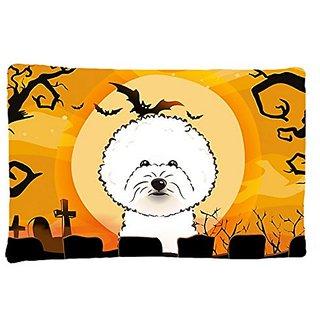 Carolines Treasures BB1775PILLOWCASE Halloween Bichon Frise Fabric Standard Pillowcase, Large, Multicolor