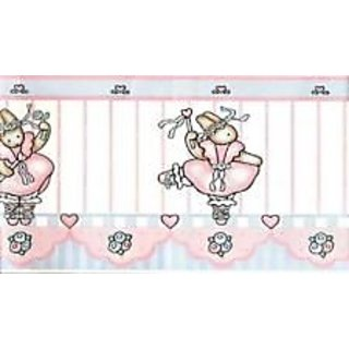 Daisy Kingdom Ballerina Bunnies Wallpaper Border