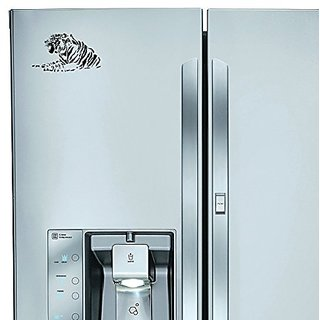 StickAny Kitchen Appliance Series Tiger 3 Sticker for Refrigerators, Dishwashers, and More! (Black)