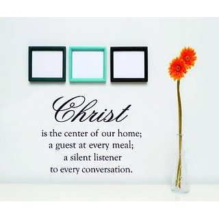 Design with Vinyl Christ Is The Center Of Our Home ; A Guest At Every Meal ; A Silent Listener To Every Conversation Bib
